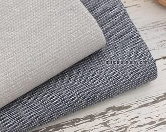 Light Grey Denim Blue Stripes Fabric Yarn Dye Pin Stripes - Fabric By 1/2 Yard