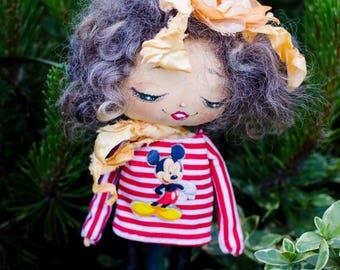 Handmade dolls - Fabric dolls - Personalized fabric doll - Doll clothes - Custom portrait rag doll - Portrait doll - Textile doll