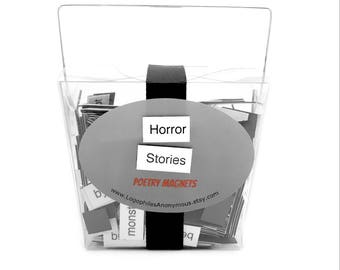 Horror Stories Poetry Magnets - Refrigerator Word Quote Magnets - Free US Shipping