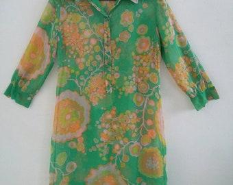 vintage sheer cotton dress