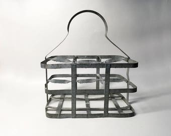 French Vintage Bottle Carrier for 6 Bottles