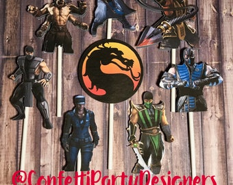 Mortal Kombat Cupcake Toppers-SALE!!!!
