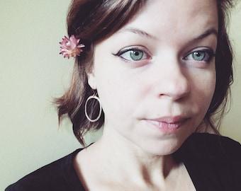 14k Rose Gold Filled // Hammered Mini Hoop Earrings