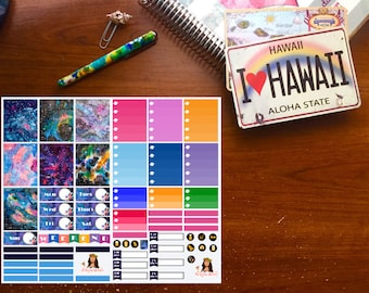 Galaxy Planner Stickers, Mini Kit, Vertical Planner Stickers