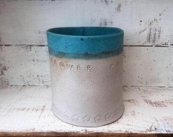 Ceramic stoneware handmade outdoor plant pot, Home decor, gift idea, ceramic planter
