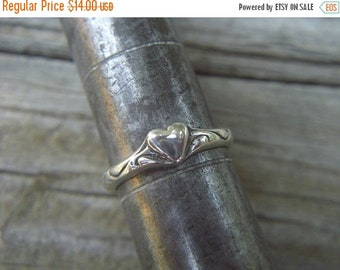 ON SALE Heart ring handmade in sterling silver 925
