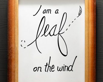 Leaf on the Wind DIGITAL Firefly/Serenity Quote