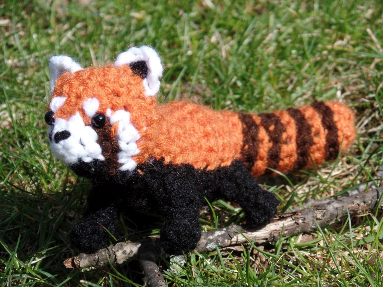 Roter Panda Plüsch häkeln Pandir