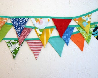 Colorful Fabric Flag Garland