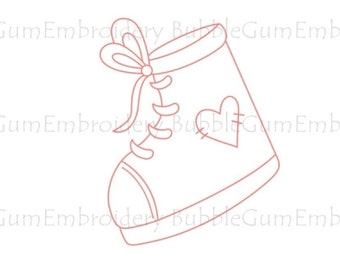 Redwork Girly Embroidery Designs Instant Download