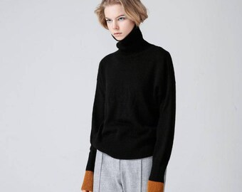 Long Sleeve Knitwear Turtle Neck Pullover
