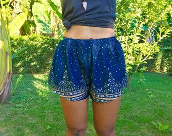 Bohemian Shorts Women // Womens Shorts // Boho Shorts // Blue Boho Shorts Women // Shorts Women //