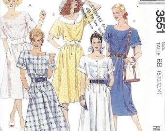 McCall's 3551 Misses Quick & Easy Dress Pattern, Size 8-14, UNCUT
