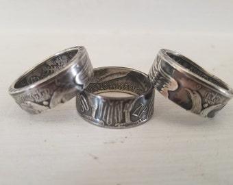 GREECE: 1964 (.835 Silver) 30 Drachmai Coin Ring