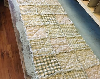 No. 60 Homespun Rag Tablerunner