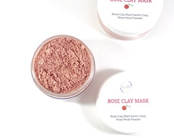 Rose Clay Face Mask Clay Facial Mask Sensitive Skin Mask Dry Mask Natural Face Mask Organic Face Mask Rose Facial Mask Pink Clay Mask