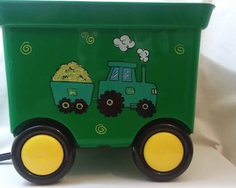 Personalized Toy Wagons, Custom John Deere Inspired Pull Wagons, Match Your Room, Favorite Characters