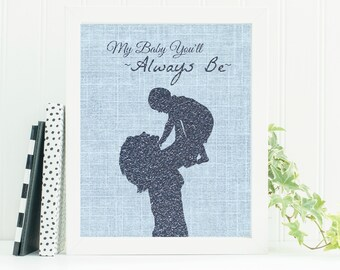 Mother's Gift to Son, Instant Downloadable Print, Wall Art, Little Boy Printable Home Decor, Gift to Son from Mom, Nursery Print, Printable