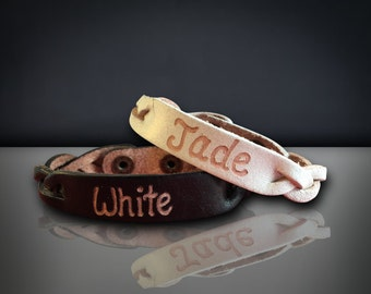 Engraved leather bracelets - Personalized leather bracelets for couples - leather custom bracelets - Custom leather engraved bracelets