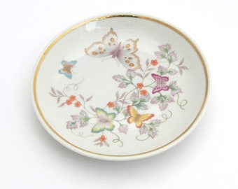 Butterfly Dish | Avon Dish | Porcelain Dish | Butterfly Gift | Jewelry Dish | Ring Dish | Butterfly Plate | Butterfly Lover | Trinket Dish