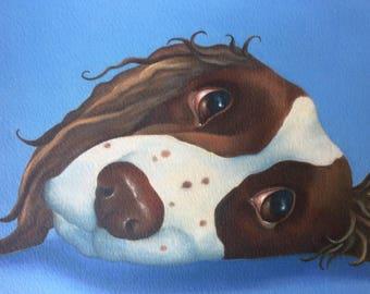 """springer spaniel painting """"Chestnut"""""""