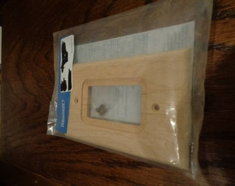 Wooden unfinished Single GFCI outlet cover