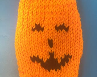 Happy Halloween Teeny Tiny Micro Teacup Dog/Puppy Hand Knitted Sweater 2 lb