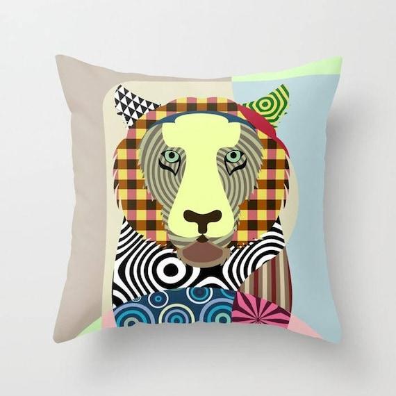 Tiger Pillow, Tiger Gifts, Tiger Art, Tiger Decor, Animal Pillow, Pet Gifts, Pet Pillow, Tiger Print, Animal Portrait