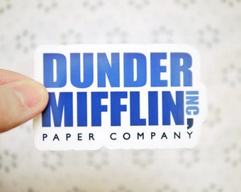 Dunder Mifflin Sticker - The Office Sticker - Michael Scott Dwight Schrute - Notebook Stickers - Popular Friends Stickers - Tumblr - S102