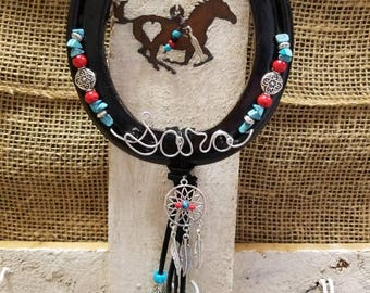 Horseshoe Decor, Cowgirl Gifts, Decorated Horseshoe, Horseshoe Art, Equestrian Gifts, Horse Decor, Rustic Metal, Horse Lover Gift