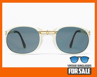 Vintage sunglasses Derapage by Vitaloni Folding White original made in Italy 1983