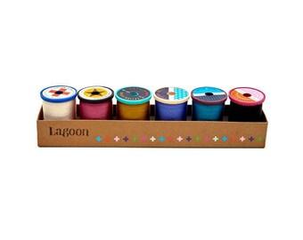 Cotton + Steel 50 weight Cotton Thread Set by Sulky - Lagoon