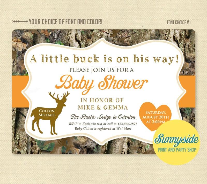 Deer / Hunter / Camo Camouflage Baby Shower Invitation
