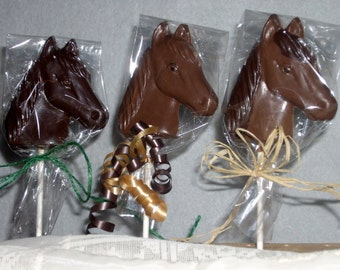 Chocolate Horse lollipops