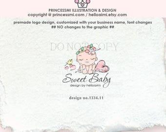 1334-11   newborn logo design, baby logo design, logo branding,  boutique logo, business branding, newborn photography, baby boutique, logo