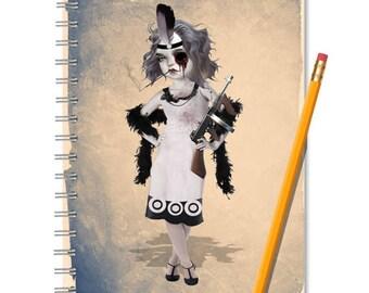 Spiral Notebook   Gatsby   Journal Notebook   Gangsters Moll   Journal   Notebook   A5 Notebook   Gift