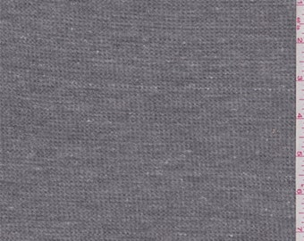 Heather Dark Grey Thermal Knit, Fabric By The Yard