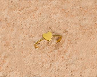 Silver Tiny Heart, Gold Tiny Heart, 925 Sterling Silver, Tiny Heart Ring