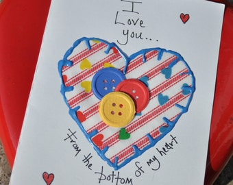 Love Greeting Card    I Love You From The Bottom Of My Heart