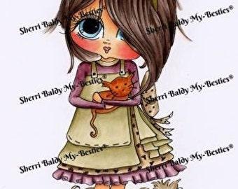 INSTANT DOWNLOAD Digital Digi Stamps Big Eye Big Head Dolls Bestie Gifts For You  My Besties By Sherri Baldy