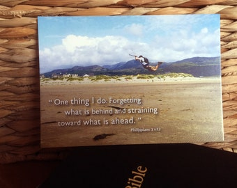 Bible Scripture Verse - Postcard - Philippians 3 v13