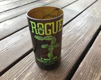 Rogue 7 Hop IPA Beer Bottle Glass