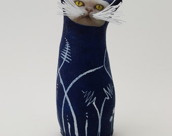 Cat perfect gift for cat lover, ideal birthday gift. Hand made.