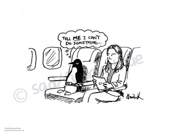 "Indignant Penguin Comic 10"" x 8"" Print"