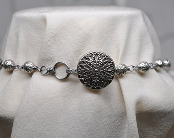 Vintage filigree Button Clasp Handmade Jewelry Hook and Eye