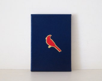CARDINALS - Navy St. Louis Cardinals PAINTING - Red Bird Art - St. Louis Cardinals Fan Gift - StL Cardinal Lucky Charm - Red Cardinal Print
