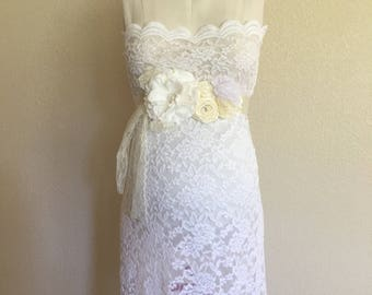 S-4XL, White Sheer Maternity Prop, Maternity Lace Gown, Milk Bath See Though, Pregnancy Props, Boudoir Style, Scallop Tube Fitted Lace Dress