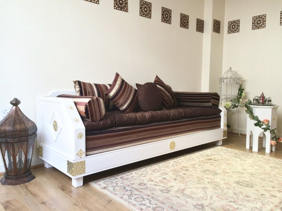 Luxurious Moroccan, Couch, 3 Seater Sofa, Sofa, Bench, Daybed, Majlis,  Moroccan Decor, Moroccan Furniture, Pouf, Footstool, Ottoman