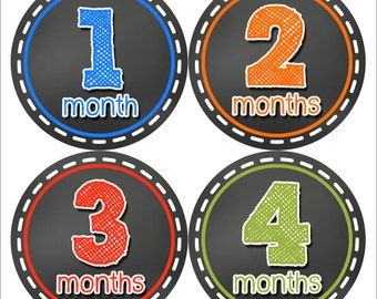 Baby Month Stickers, Baby Boy Gift, Milestone Stickers, Monthly Sticker, Monthly Baby Boy Stickers, Baby Month Milestone Stickers 320