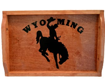 Serving Tray / tray / BHR / wyoming / bucking horse and rider / shadow box